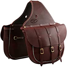Outfitters Supply Cavalry Saddle Bags: Three Buckle (Full Size)