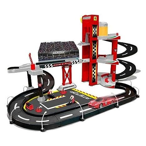 Bburago 2043178 - Garage con circuito da corsa per macchinine ...