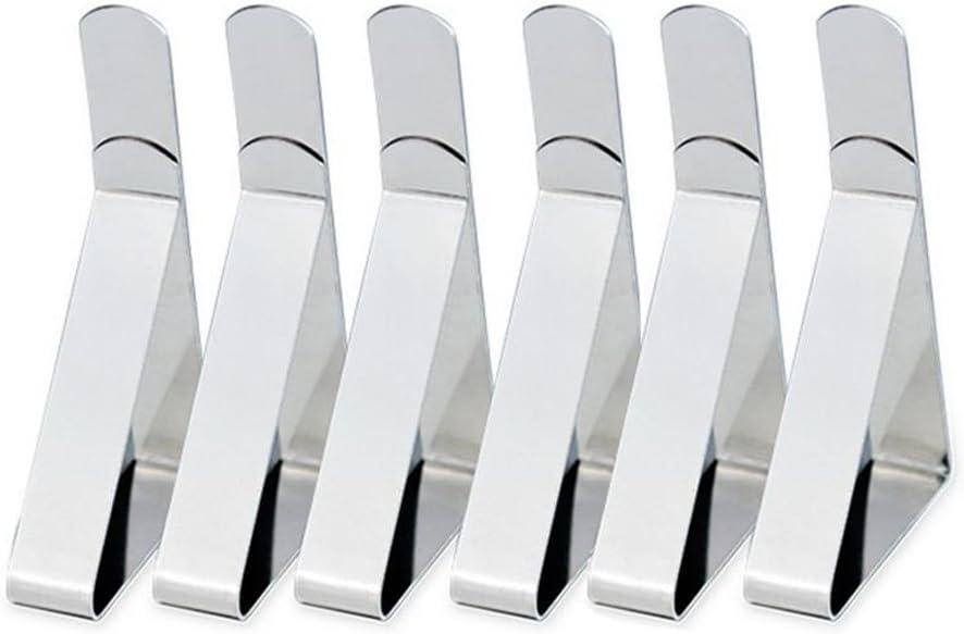Milopon Tischtuchklammern Tischtuschhalter Tischdeckenklammern aus Edelstahl verstellbar f/ür Tischdecke Tischplatten Zuhause Restaurant size 7.7*4.5*1.2cm 12pcs