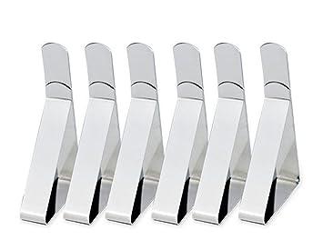 96 x Edelstahl Tischtuch Klammern Tischdeckenklammer Tischtuchhalter Halter Clip