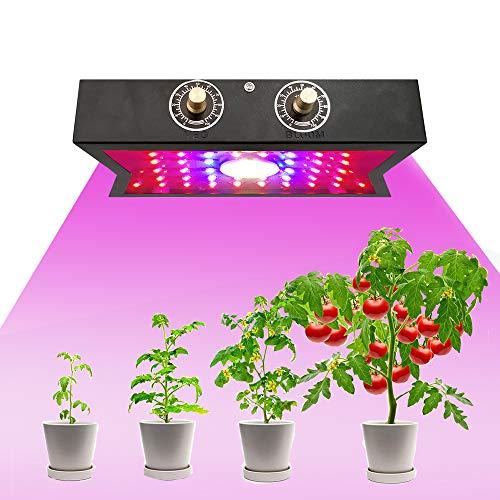 LED Grow Light for Indoor Plants, 1200W,Sunlike Full Spectrum Grow Lamp Plant Light for Succulent, Bonsai, Hydroponics Flower, Vegetable Growing, Indoor Greenhouses, 4 Adjustment knobs (Black)