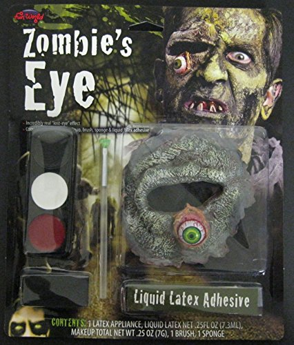 [ZOMBIE EYE MAKEUP KIT PROSTHETIC LIQUID LATEX FACE PAINT COSTUME FW9501E] (666 Halloween Costume)