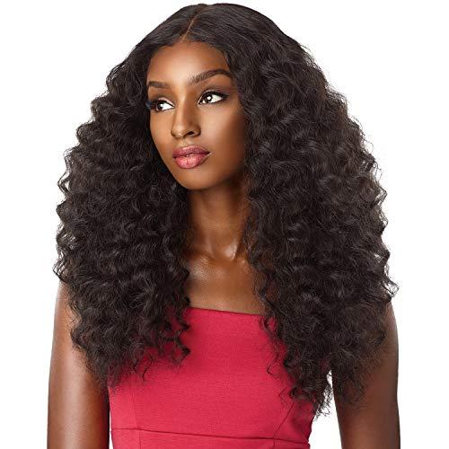 sensationnel synthetic lace front wig empress edge natural center part amani (1B)