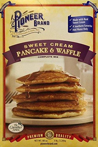 Pioneer Brand Sweet Cream Pancake and Waffle Complete Mix ~ 80 oz