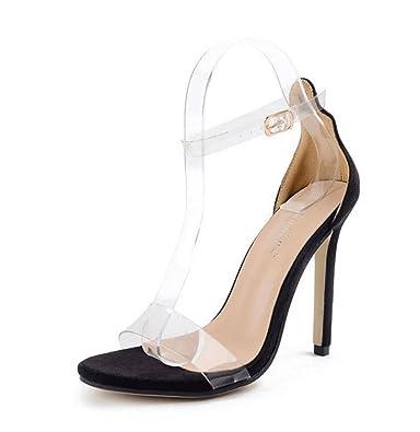 Sandalen Einfache Show Sandalen Bankett Schuhe Slim High Heel Fisch Mund Sandalen