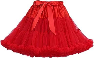 TENDYCOCO Vestido de Falda de tutú en Capas de Tul para Mostrar ...