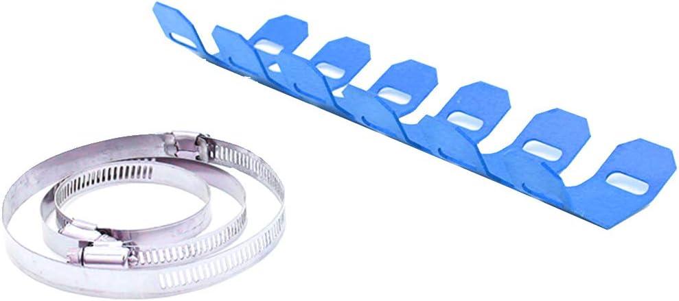 25cm Universal-Auspuffrohr Hitzeschild-Abdeckung Hitzeschutzblech Hitzeschutz f/ür 2-Takt-Motorr/äder Blau