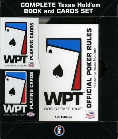 World Poker Tour Book and 2 Deck Set by US Playing Cards