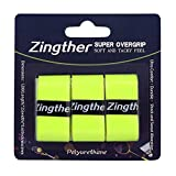 Zingther Premium Super Tacky Professional Self-Adhesive Tennis Racket Grip Overgrip Tape (3-6-24-Grip Packs, White, Black, Sky Blue, Orange, Purple and Lime Yellow)