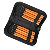 Delicacy Wood Carving Tools, 12 Set Professional Carbon Steel Carving Chisels Knife Kit for DIY Sculpture Carpenter Beginners & Experts