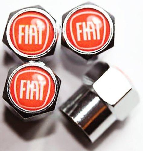 Panda pour Fiat 500 rouge chrom/é Bouchons anti-poussi/ère pour valve de roue Punto etc. Abarth