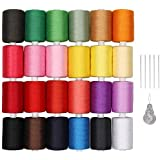 LIANTRAL Polyester Sewing Thread 24 Colors 1000 Yards Each Spools Embroidery Thread for Hand and Sewing Machine Use