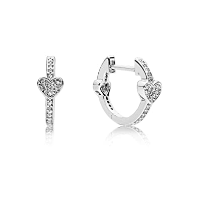 f6aac9cc2 Amazon.com: PANDORA Alluring Hearts, Clear CZ: Jewelry