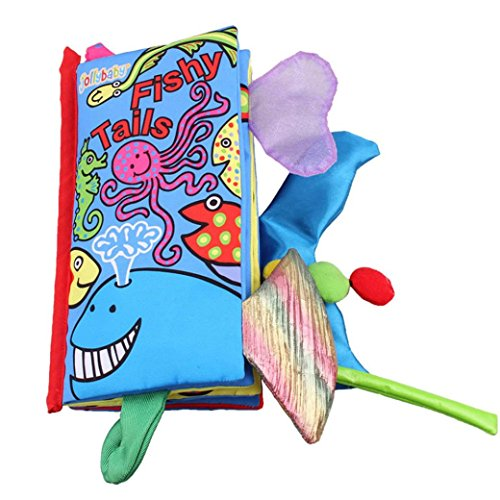 animal tails cloth book toy