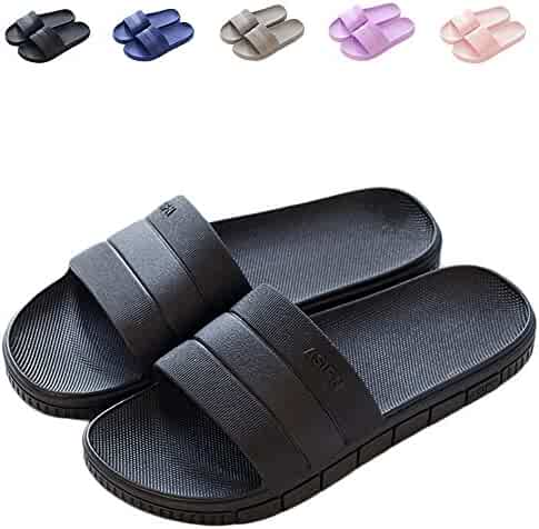 4a50d5eae89657 Finleoo Women and Men Bath Slipper Anti-Slip for Indoor Home House Sandal