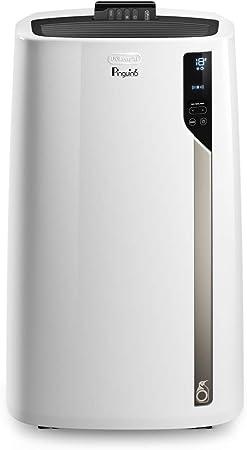Comprar De'Longhi Pingüino EL98 Aire Acondicionado Portátil, 10700 Btu/h, 2.7 kW, Eco Real Feel para Mayor Comodidad y Ahorro, Ventilador y Deshumidificador, Temporizador, Mando a Distancia           [Clase de eficiencia energética A+]