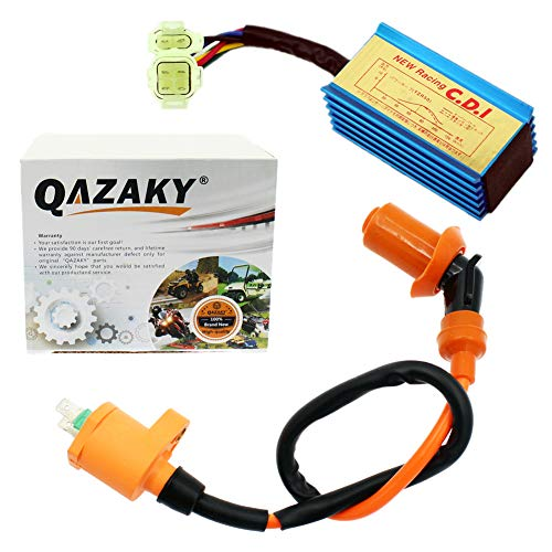 QAZAKY Performance Racing Ignition Coil + CDI AC GY6 50cc - 110cc 125cc 150cc 4-stroke Engines Scooter ATV Go Kart Moped Quad Pit Dirt Bike (Ac Racing Bmx)
