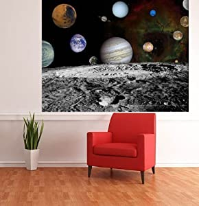 NASA SPACE PICTURE SOLAR SYSTEM PHOTO WALLPAPER WALL MURAL KIDS WALLPAPER