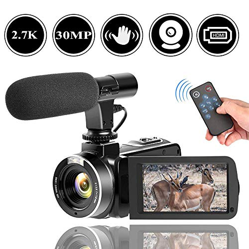 2.7K Camcorder Video Camera for YouTube 30MP Digital Camera Vlogging Camera with Microphone and - Cameras High Quality Video