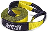 "USWAY GEAR 3"" x 30' Tow Strap - 30.000 LBS (15 US TON) Rated Capacity Heavy Duty Vehicle Tow Strap with Reinforced Loops + Protective Sleeves + Storage Bag 