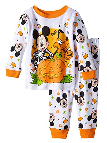 Mickey Mouse & Pluto Halloween Glow in The Dark Cotton Snug Fit Pajamas (12 Months)]()