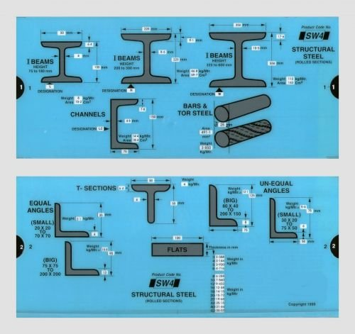 (Structural Steel Slide Chart)