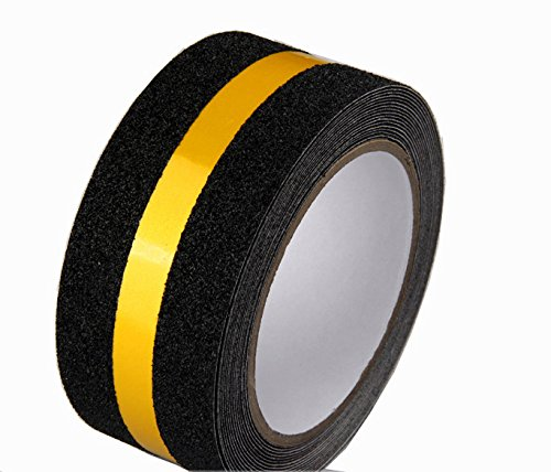 Yellow Reflective Reflective Anti Slip Safety Grit Non Slip Tape Highest Traction 1.97 Inch x 16.4 Foot,Anti-Slip Tape, Floor tape,stairs Tape,Safety Tape - Dog Ramp Ramp