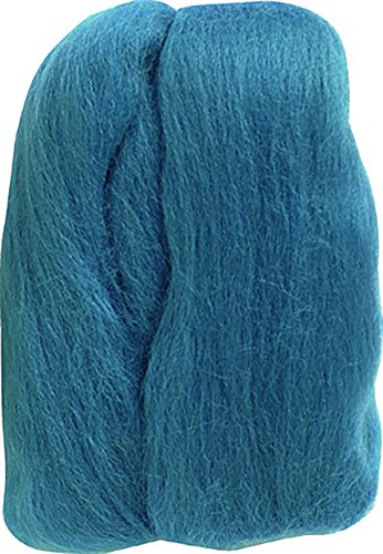 Clover Electronics Natural Wool Roving, Teal