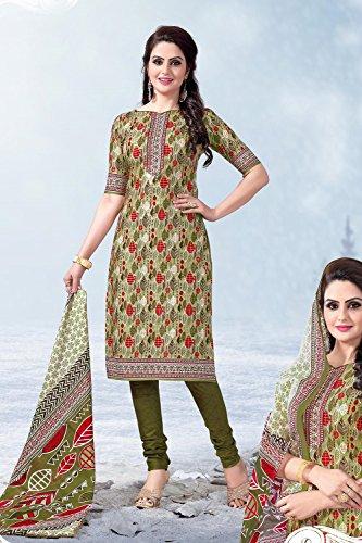 Da Facioun Femmes Indiennes Concepteur Partywear Ethnique Salwar Kameez Vert Traditionelles.