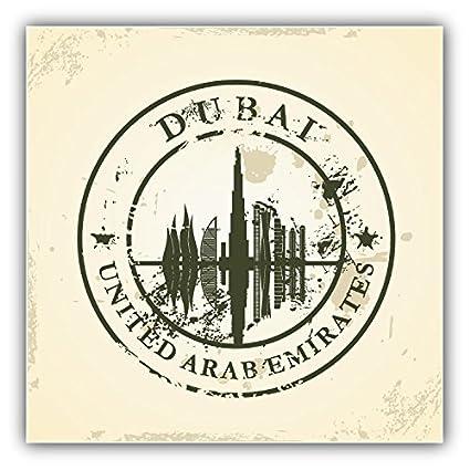 Dubai city united arab emirates grunge travel label art decor bumper sticker 5 x