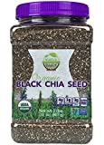 WunderBasket Organic Black Chia Seeds(Pack of 1)