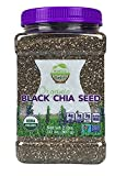 Wunder Basket Organic Black Chia Seeds 2 LB Jar w Scoop (Pack of 1)