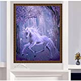SCASTOE DIY 5D Diamond Embroidery Painting Unicorn Horse Cross Stitch Craft Home Decor