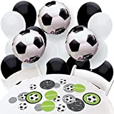 GOAAAL! - Soccer - Confetti and Balloons Baby Shower or Birthday Party Decorations - Combo Kit