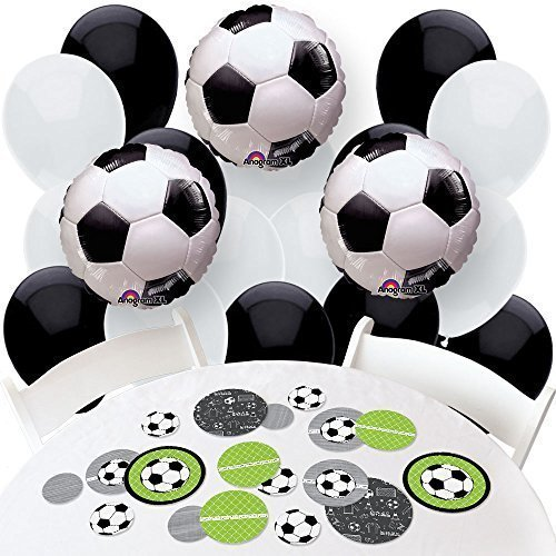 GOAAAL! - Soccer - Confetti and Balloons Baby Shower or Birthday Party Decorations - Combo Kit by Big Dot of Happiness