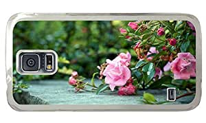 Hipster fashion Samsung Galaxy S5 Case rose bushes PC Transparent for Samsung S5