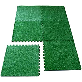 Amazon Com Sorbus Grass Mat Interlocking Floor Tiles