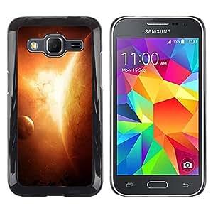 Be Good Phone Accessory // Dura Cáscara cubierta Protectora Caso Carcasa Funda de Protección para Samsung Galaxy Core Prime SM-G360 // Apocalypse Sun Planet Solar System Art Earth