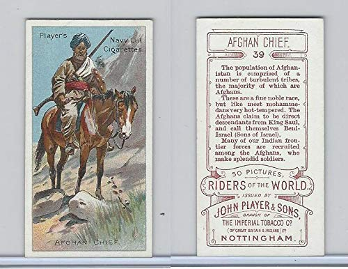 P72-48 Players, Riders of the World, 1905, 39 Afghan Chief, Horse