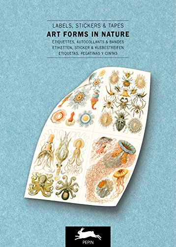 (Art Forms in Nature Label & Sticker Book (English, Spanish, French and German Edition))