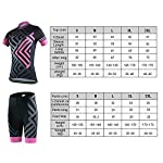 SKYSPER-Completo-Abbigliamento-Ciclismo-Set-Abbigliamento-Ciclismo-per-Coppia-Ciclismo-Maglia-Manica-Corta-Pantaloni-Traspirante-3D-Imbottito-in-Bicicletta-per-Uomo