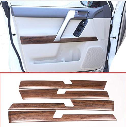 4pcs Pine Wood Grain Car ABS Interior Door Decoration Panel Trim for Toyota Land Cruiser Prado FJ150 150 2010-2018 Accessories
