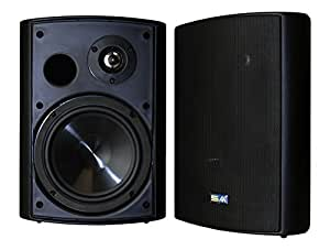 Sound Appeal Wireless Bluetooth Weatherproof Speakers (Black, 6.50 Inch, Pair)