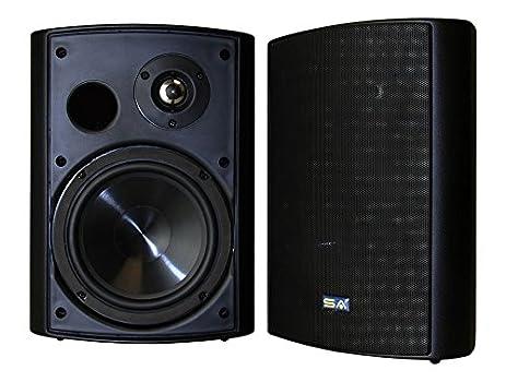Bluetooth 6.50u0026quot; Indoor/Outdoor Weatherproof Patio Speakers, Wireless  Outdoor Speakers (Black