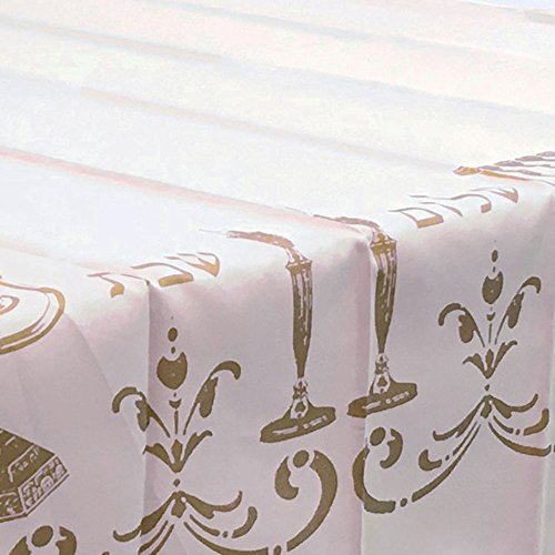 Tablecloth White Shabbat Chalom Jewish, Stain Resistant, Washable, Liquid  Spills, Seats 10 To 12 People (Other Size: 63u2033 Round, 60 X 80u2033, 60 X 95u2033)  (60 X ...