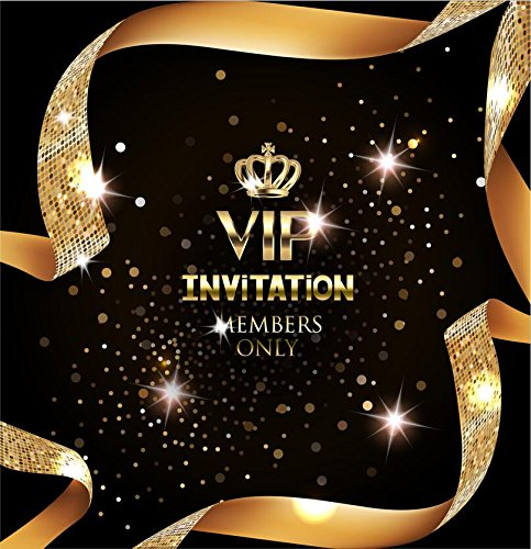 gold crown vip Background High-grade portrait cloth Computer printed party photo backdrop dd-SHU519464683 by Tommy backdrop (Image #1)