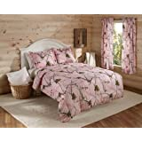 Real Tree AP Mini Comforter Set, Twin, Pink, Camo