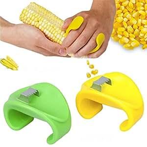 sunwon® Creativo hogar cocina necesidades cepillado Maíz Maíz Cuchillo pelador dispositivo de pelar maíz Stripper de maíz maíz trilla (color al azar)