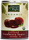 Grown Right Organic Jellied Cranberry Sauce, 16 oz