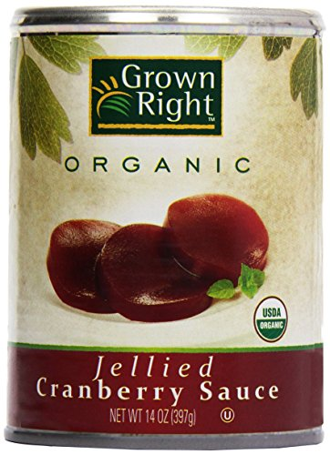 Grown Right Organic Jellied Cranberry Sauce, 16 oz by Grown Right